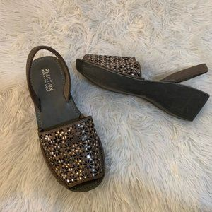 3/$25Kenneth Cole REACTION Shine Far Wedge Sandals